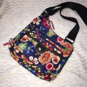 Lily Bloom bold floral canvas crossbody